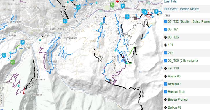 Aosta_Pila_Bikepark_map